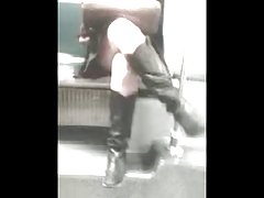 Upskirt With Boots On Subway