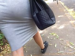 Big asss skirt see through thong