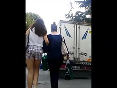Tight Turkish Teen Ass in Skinny Shorts