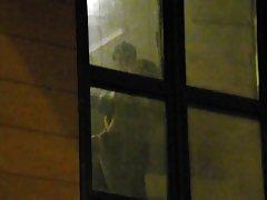 boys watching the neighbors