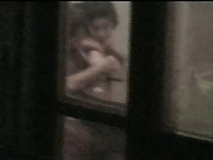 caught window neghbours couple hot voyeur