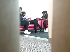 Candid Indian Chick Feet Shoeplay Dangling Black Tights
