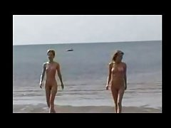 Nude Beach - Two Hot Teens Frolicking