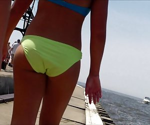 Candid Beach Bikini Ass Butt West Michigan Booty Penny