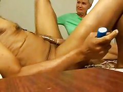 Home Video - Blonde Mature fucks a Rasta man