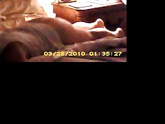 wife caught mastrubating on hidden cam after I left for work