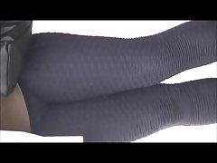 Ebony in black spandex bonus girl in black spandex shorts