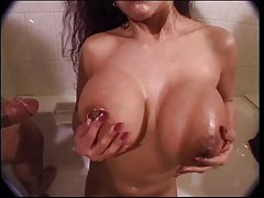 Older chick with huge boobs and meaty pussy fucks buff dude with big cock