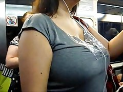 BBW Candid Busty Boobs