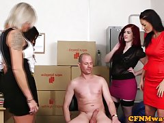 Mean femdom group fun with Kiki Minaj