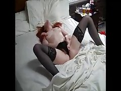 Teen with redhead caught masturbating.