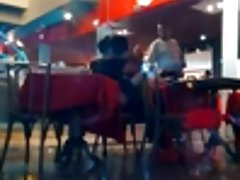 public sex in restaurant
