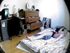 Bored Amateur Teen Masturbates to Orgasm