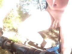 Biking naked on a walkway 2