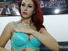 Sexy red head teasing Web Cam