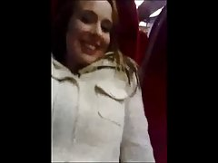British Girl Fingered and gives a Blow Job on Train
