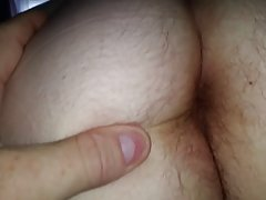 wifes hairy asshole winking & long hairy pussy pubes