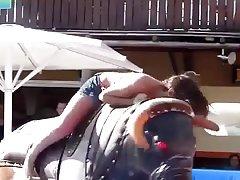 Nipple Slip on a bull