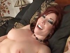 Mature redhead Milf touches herself