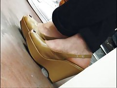 Wedges Heels in a Subway